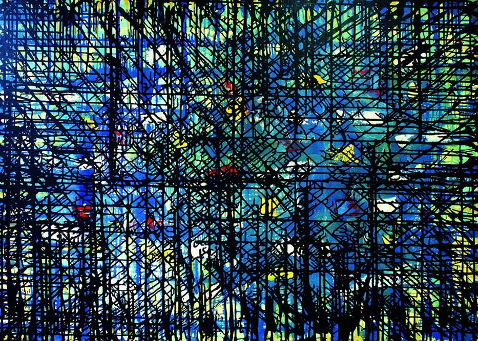 Abstrait, 1964 Huile sur toile 108 x 146 cm