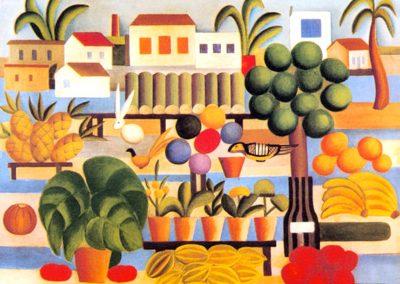 A feira I, 1924 Huile sur toile 67 x 80 cm
