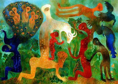 Mon esprit se nourrit, 2007 Huile sur toile 114 x 146 cm