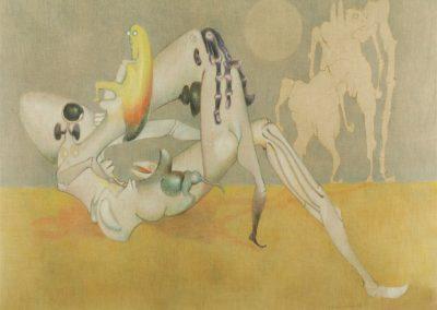 Attache à la lune, 1974 Acrylique sur toile 75 x 95 cm