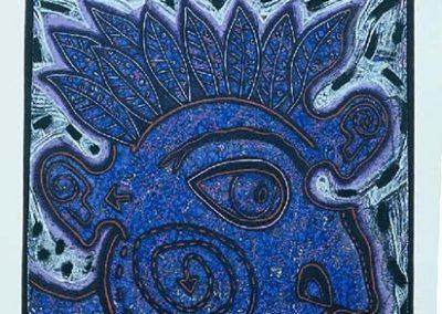 Bleu, 1990 Acrylique sur toile 130 x 180 cm