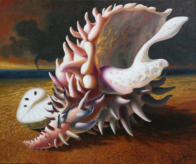 Caracol, 2009 Huile sur toile 54 x 65 cm