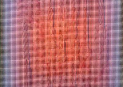 Carré central orange, 2002 Technique mixte 75 x 65 cm