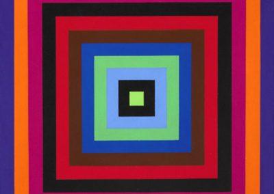 Carrés concentriques, 1970 Huile sur toile 79 x 80 cm