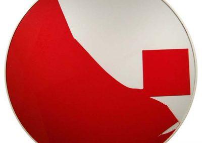 Cercle rouge et blanc, 2009 Technique mixte 125 cm de diamètre