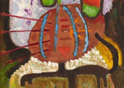 Chat de chiffon, 1959 Huile sur toile 79 x 50 cm