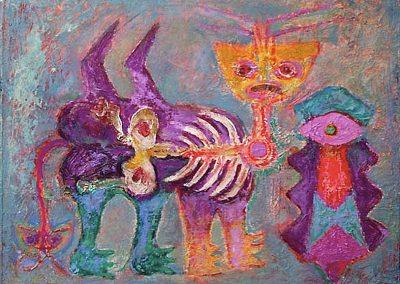 Chiquitoy, 1957 Huile sur toile 150 x 60 cm