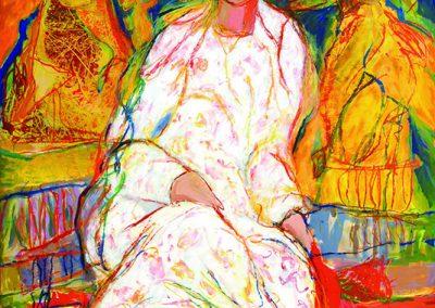 Clair de lune, 2010 Technique mixte 163 x 130 cm