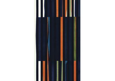 Coloritmo 45A, 1960 Technique mixte 170 x 43 cm