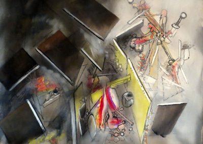 Combustion lente, 1959 Huile sur toile 80 x 100 cm