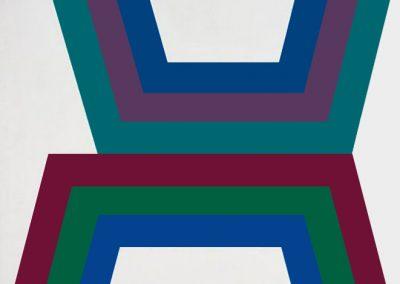 Composition abstraite 24, 1976 Acrylique sur toile 80 x 80 cm