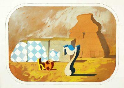 Composition, 1975 Aquarelle sur papier 57 x 76 cm