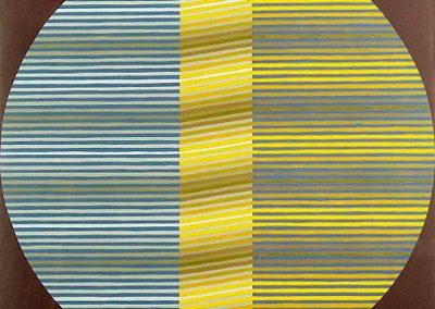 Composition, 1975 Gouache sur toile 66 x 64 cm