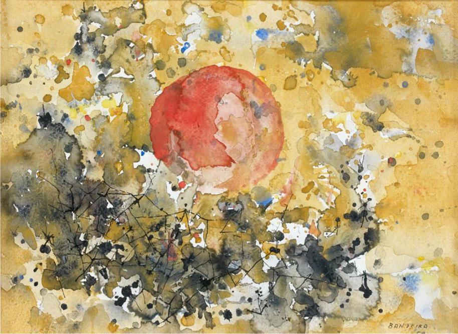 Composition, 1959 Huile sur toile 23 x 31 cm