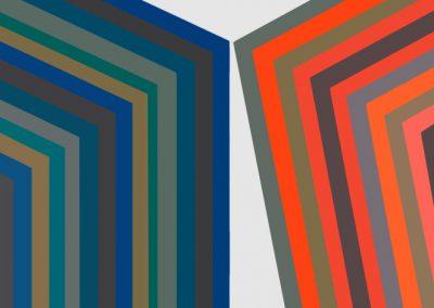 Composition abstraite 25, 1976 Acrylique sur toile 80 x 80 cm