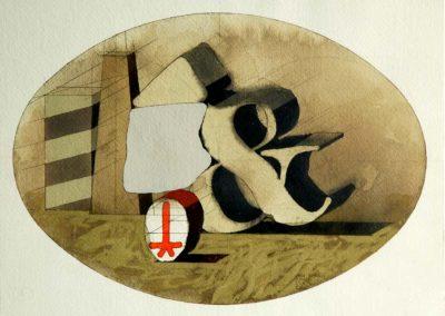 Composition, 1976 Aquarelle sur papier 27 x 37 cm