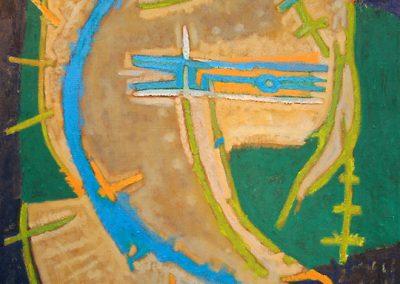 Composition abstraite, 1960 Huile sur toile 39 x 32 cm
