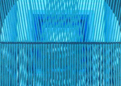 Composition, 1988 Huile sur toile 100 x 100 cm