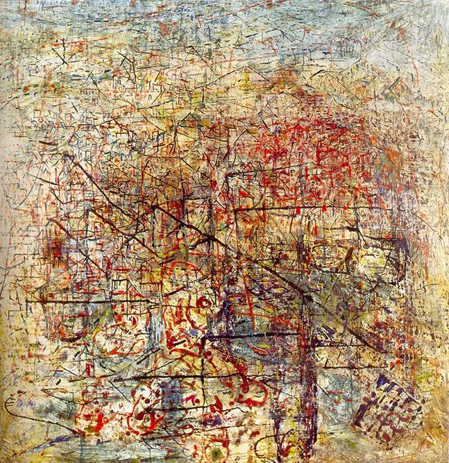 Composition abstraite, 1950 Huile sur toile 120x120cm