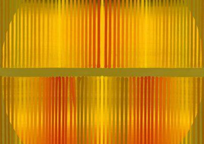 Composition orange, 1990 Acrylique sur toile 100 x 90 cm