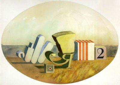 Composition R2, 1976 Aquarelle sur papier 74 cm x 104 cm