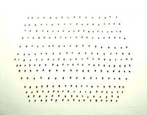 Concetto spaziale, 1968 Technique mixte 73 x 92 cm