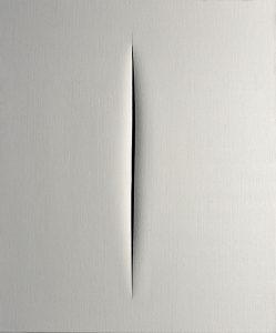 Concetto spaziale, Attese, 1965 Huile sur toile 81 x 100 cm