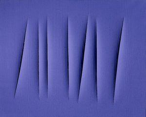 Concetto spaziale, Attesa, 1966 Acrylique sur toile 22 x 18 cm