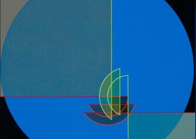 Construction descriptive vert-blanc, 2009 Technique mixte 50 x 50 cm