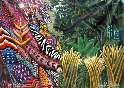 La conversation, 2007 Acrylique sur toile 150 cm x 200 cm