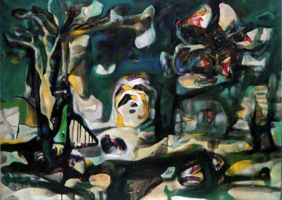 Crucifiction (Croix Fiction), 1938 Huile sur toile 73 x 92 cm