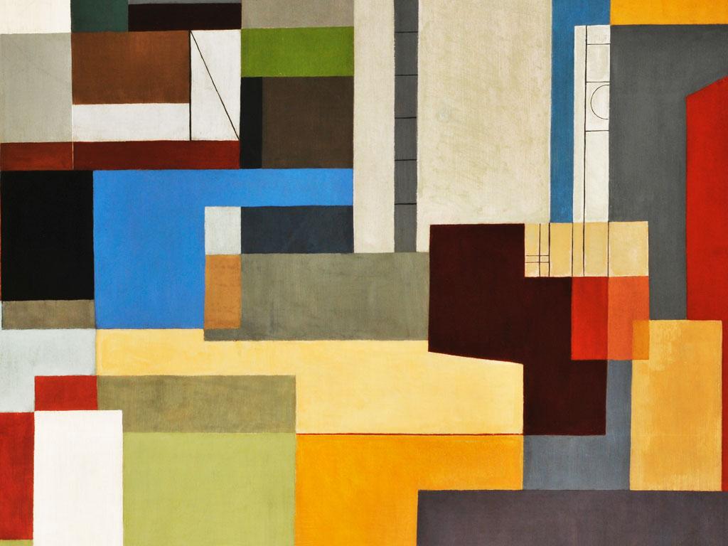 Détail de paysage urbain, 1995 Huile sur toile 100 x 154 cm