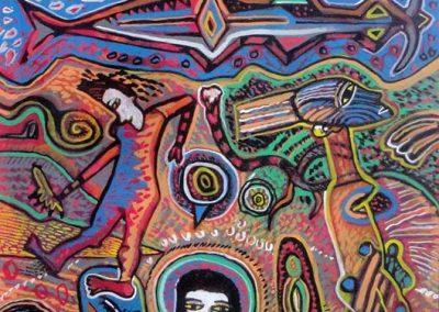 Dieux, 2006 Acrylique sur toile 50 x 65 cm