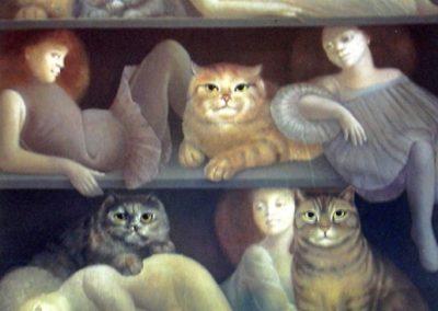 Dimanche après-midi, 1980 Huile sur toile 60 x 85 cm