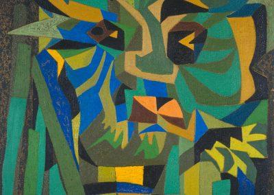 Dieu végétal, 1959 Huile sur toile 102 x 83 cm