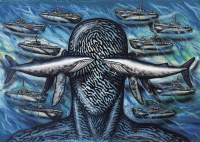 Eau, 2010 Huile sur toile 80 x 100 cm