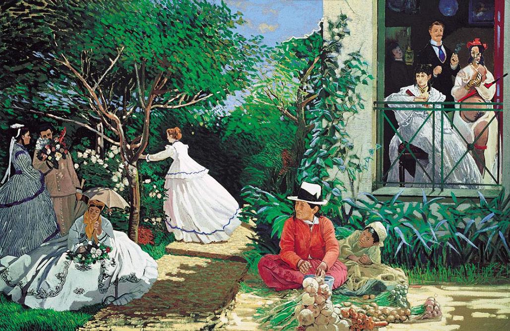 En attendant (Monet et Manet), 1984 Acrylique sur toile 195 x 300 cm