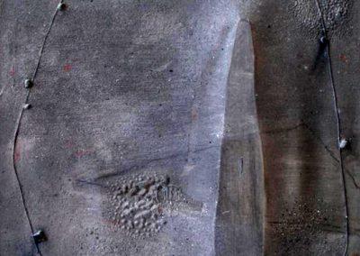 Espace cromlech, 1992 Huile sur toile 100 x 81 cm