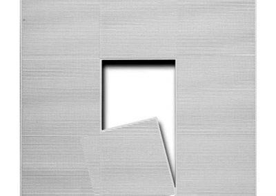 L'espace vide est dedans et dehors n°717, 1987 Technique mixte 100 x 100 cm