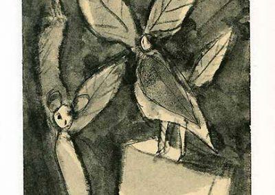 Fées, 2009 Technique mixte 14 x 20 cm