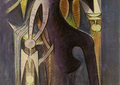 Femme, 1957 Technique mixte 70 x 54 cm