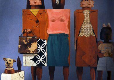 Femmes avec chien, 1964 Technique mixte 183 x 216 x 122 cm