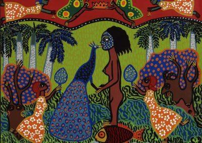 Fille au paon, 1989 Sérigraphie 47 x 59 cm