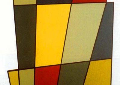 Forme irrégulière n°2, 1955 Huile sur panneau 70 x 40 cm