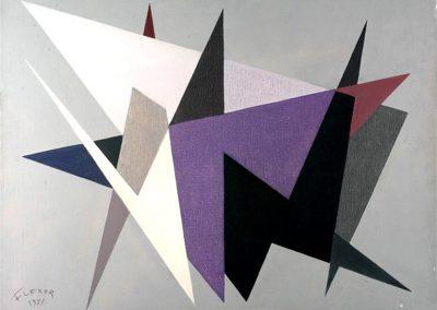 Formes, 1951 Acrylique sur toile 100 x 80 cm