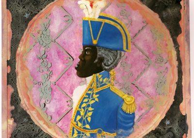 Le général Toussaint enfumé, 2003 Technique mixte 160 x160 cm