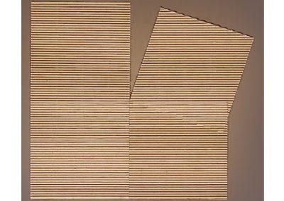 Glissement d'un élément dans l'espace extérieur, 1980 Carton 53 x 50 cm