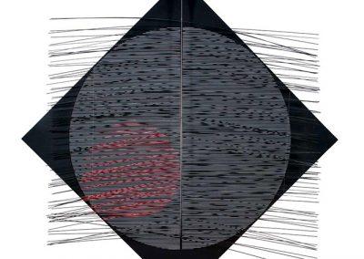 Grand cercle rouge, 1978 Technique mixte 177 x 177 x 27 cm