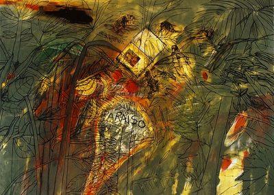 La Grande Colombie, 1986 Huile sur toile 150 x 198 cm