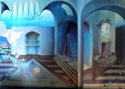 Habitable d'Antigone, 1972 Huile sur toile 91 x 148 cm